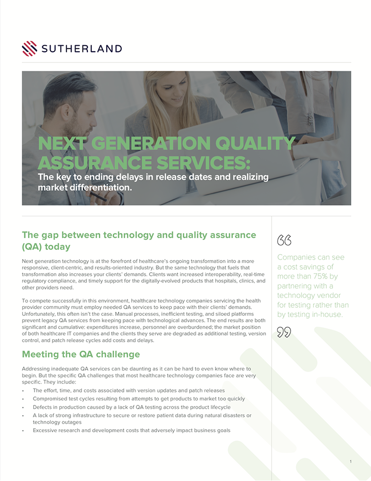 WP - The Next Generation Quality Assurance Services