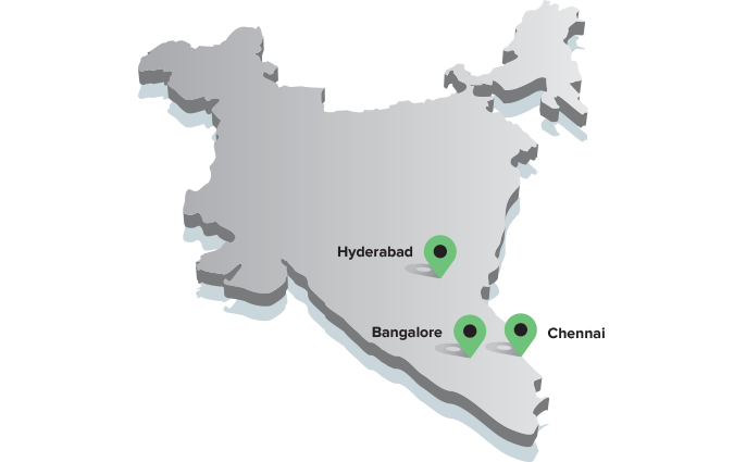 India Delivery Locations